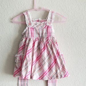 Izod Pink Plaid Baby Girl Dress